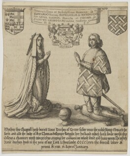 Anne, Duchess of Exeter; Sir Thomas St Leger, by Wenceslaus Hollar - NPG D48200