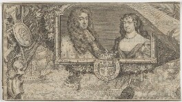 King James II; Mary of Modena, by George Vertue - NPG D48202