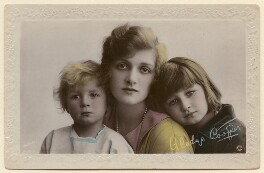 John Rodney Buckmaster; Dame Gladys Cooper; Joan Morley (née Buckmaster), published by Rotary Photographic Co Ltd - NPG x200166