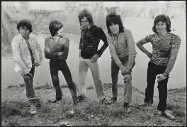 Faces (Ronnie ('Plonk') Lane; Ian McLagan; Roderick David ('Rod') Stewart; Ronald ('Ronnie') Wood; Kenny Jones), by Alec Byrne - NPG x200078