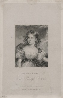 Queen Victoria, by T.H. Parry, published by  William Sams, after  Marie Françoise Catherine Doetter ('Fanny') Corbaux - NPG D48215