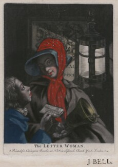 The Letter Woman, possibly by Philip Dawe, published by  Carington Bowles, after  Henry Robert Morland - NPG D47161