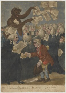 The First Day of Term - or, The Devil among the Lawyers, published by Bowles & Carver, after  Robert Dighton - NPG D47045