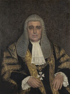 David Patrick Maxwell Fyfe, Earl of Kilmuir, by Harold Knight - NPG 7055