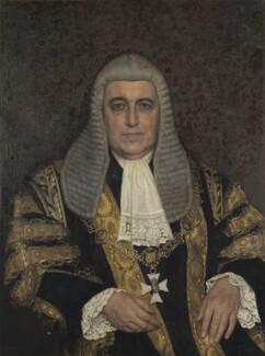 David Patrick Maxwell Fyfe, Earl of Kilmuir, by Harold Knight - NPG 7055
