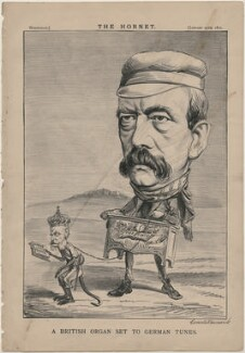 'A British Organ set to German Tunes' (Wilhelm I, Emperor of Germany and King of Prussia; Prince Otto Edward Leopold von Bismarck-Schonhausen), published by Frederick Arnold, after  Unknown artist - NPG D48220