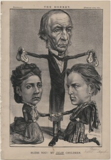 'Bless You! My Dear Children.' (Princess Louise Caroline Alberta, Duchess of Argyll; William Ewart Gladstone; John George Edward Henry Douglas Sutherland Campbell, 9th Duke of Argyll), published by Frederick Arnold, after  Unknown artist - NPG D48224