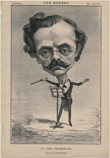 Jules Rivière ('At the Promenade'), published by Frederick Arnold, after  Unknown artist - NPG D48253