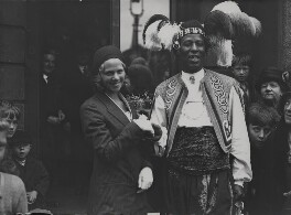 The wedding of Nellie Adkins and Ras Prince Monolulu (Peter Carl MacKay), by George Woodbine, for  Daily Herald - NPG x182409