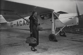 Amy Johnson (later Mollison), by James Jarché, for  Daily Herald - NPG x182414