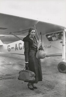 Amy Johnson (later Mollison), by James Jarché, for  Daily Herald - NPG x182415