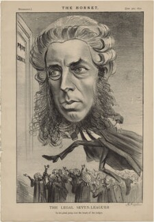 Robert Porrett Collier, 1st Baron Monkswell ('The Legal Seven Leaguer'), published by Frederick Arnold, after  Unknown artist - NPG D48269