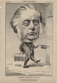 John Bright ('A Bright Prospect for 1872'), published by Frederick Arnold, after  Unknown artist - NPG D48272