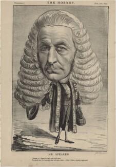 (John) Evelyn Denison, 1st Viscount Ossington ('Mr Speaker'), published by Frederick Arnold, after  Unknown artist - NPG D48274
