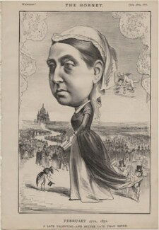 Queen Victoria ('February 27th 1872. A Late Valentine - and better late than never'), published by Frederick Arnold, after  Unknown artist - NPG D48277