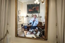 David Cameron; Sir Craig Stewart Oliver, by Charlie Bibby - NPG x200123