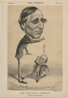 'The Political Ishmael' (Henry Fawcett; William Ewart Gladstone), published by Frederick Arnold, after  Unknown artist - NPG D48287