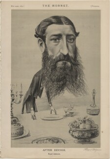 Leopold II, King of the Belgians ('After Dinner. Royal Literature'), published by Frederick Arnold, after  Unknown artist - NPG D48289