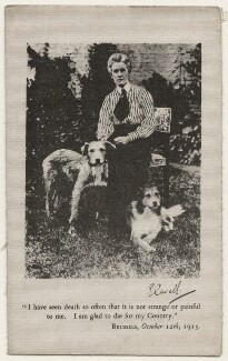 Edith Cavell with Don and Jack, by Unknown photographer - NPG x200187