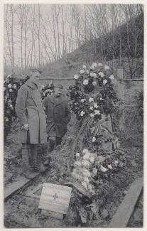 Edith Cavell's Grave in the Tir Nationale, by Unknown photographer - NPG x200188