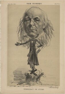 Horace Greeley ('Democracy on Stump'), published by Frederick Arnold, after  Unknown artist - NPG D48310