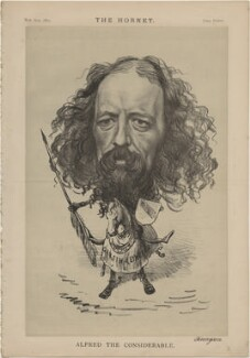 Alfred Tennyson, 1st Baron Tennyson ('Alfred the Considerable'), published by Frederick Arnold, after  Unknown artist - NPG D48313