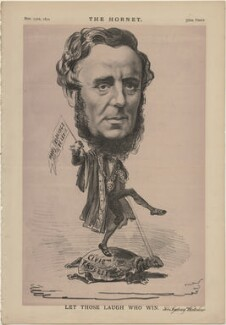 Sir Sydney Hedley Waterlow, 1st Bt ('Let Those Who Laugh Win'), published by Frederick Arnold, after  Unknown artist - NPG D48314