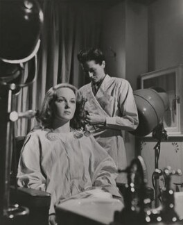Joan Greenwood with hair assistant, by Gilbert Adams - NPG x199879