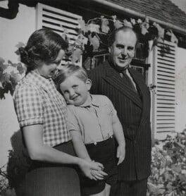 Joan Morley (née Buckmaster); Sheridan Morley; Robert Morley, by Gilbert Adams - NPG x199884