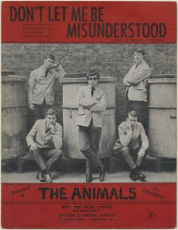 Sheet music cover for 'Don't Let Me be Misunderstood' by The Animals (Dave Rowberry; Hilton Stewart Paterson Valentine; Eric Victor Burdon; John Steel; Chas Chandler), published by West One Music Limited, after  Unknown photographer - NPG D48335