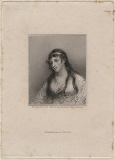 Mary Tighe, by Edward Scriven, published by  Longman & Co, after  John Comerford, after  George Romney - NPG D48047