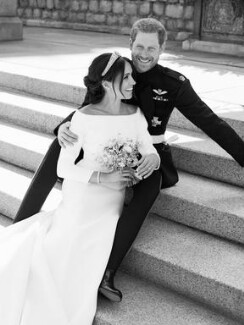 Meghan, Duchess of Sussex; Prince Harry, Duke of Sussex, by Alexi Lubomirski - NPG x200210