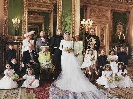 Meghan, Duchess of Sussex; Prince Harry, Duke of Sussex and family, by Alexi Lubomirski - NPG x200211