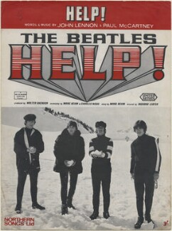 Sheet music cover for 'Help!' by The Beatles (John Lennon; Paul McCartney; Ringo Starr; George Harrison), published by Northern Songs Ltd, after  Unknown photographer - NPG D48346