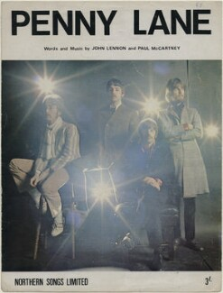 Sheet music cover for 'Penny Lane' by The Beatles (John Lennon; Paul McCartney; Ringo Starr; George Harrison), published by Northern Songs Ltd, after  Jean-Marie Périer - NPG D48349