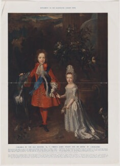 Prince James Francis Edward Stuart; Princess Louisa Maria Theresa Stuart, published by Illustrated London News, after  Nicolas de Largillière - NPG D48629