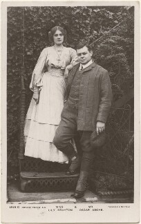 Lily Brayton; (Thomas Stange Heiss) Oscar Asche, by Foulsham & Banfield, published by  Rotary Photographic Co Ltd - NPG x201012