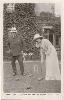 Lily Brayton; (Thomas Stange Heiss) Oscar Asche, by Foulsham & Banfield, published by  Rotary Photographic Co Ltd - NPG x201013