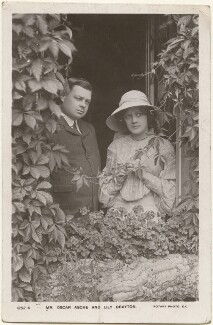 Lily Brayton; (Thomas Stange Heiss) Oscar Asche, by Foulsham & Banfield, published by  Rotary Photographic Co Ltd - NPG x201014