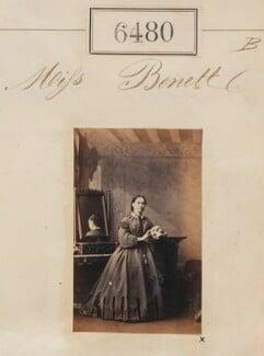 Miss Bennett, by Camille Silvy - NPG Ax56414