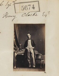 Henry Clarke, by Camille Silvy - NPG Ax55629