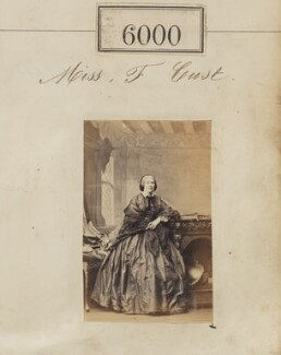 Miss F. Cust, by Camille Silvy - NPG Ax55954