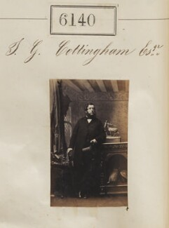 Mr T.G. Cottingham, by Camille Silvy - NPG Ax56086