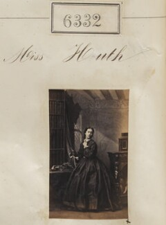 Miss Huth, by Camille Silvy - NPG Ax56277