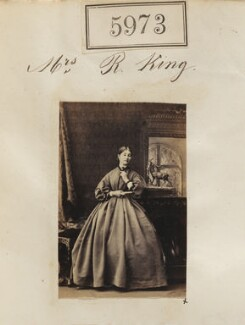 Mrs R. King, by Camille Silvy - NPG Ax55928