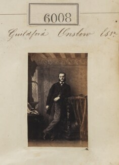 Guildford Onslow, by Camille Silvy - NPG Ax55962
