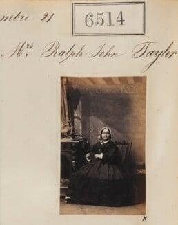 Mrs Ralph John Taylor, by Camille Silvy - NPG Ax56447