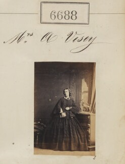 Mrs A. Vesey, by Camille Silvy - NPG Ax56618