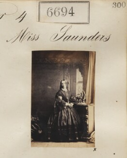 Miss Saunders, by Camille Silvy - NPG Ax56624