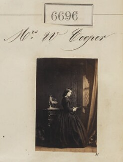 Mrs W. Cooper, by Camille Silvy - NPG Ax56626